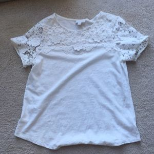 Charter Club (Macy's) white lace T, M